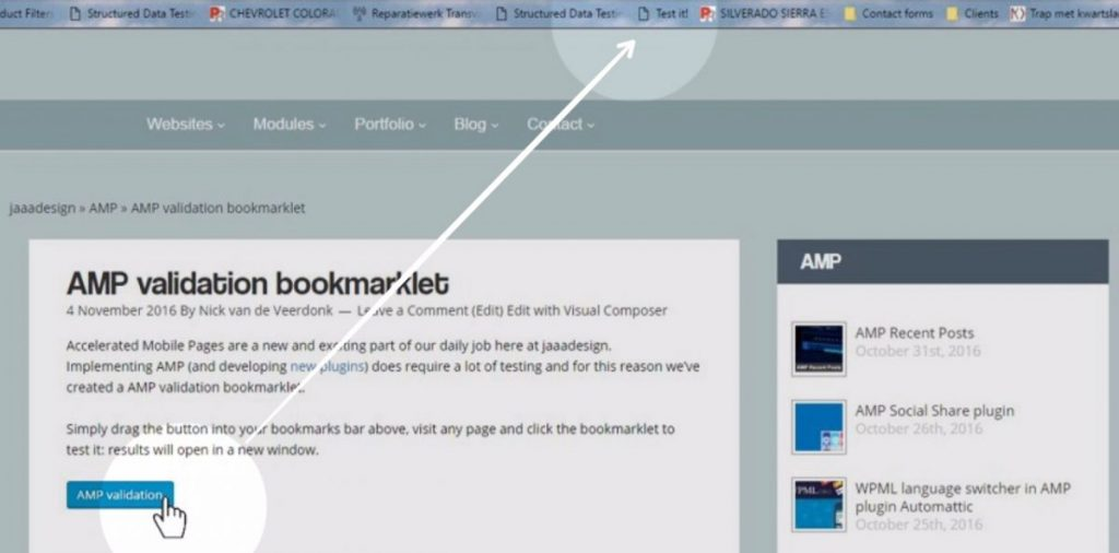 amp validation bookmarklet